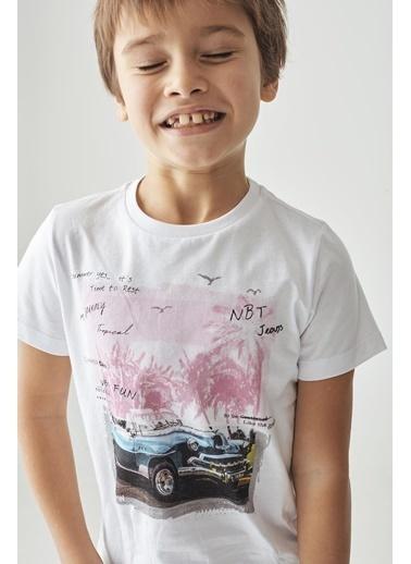 Nebbati Erkek Çocuk Beyaz T-Shirt Beyaz